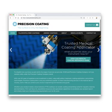 Precision Coating Web Site